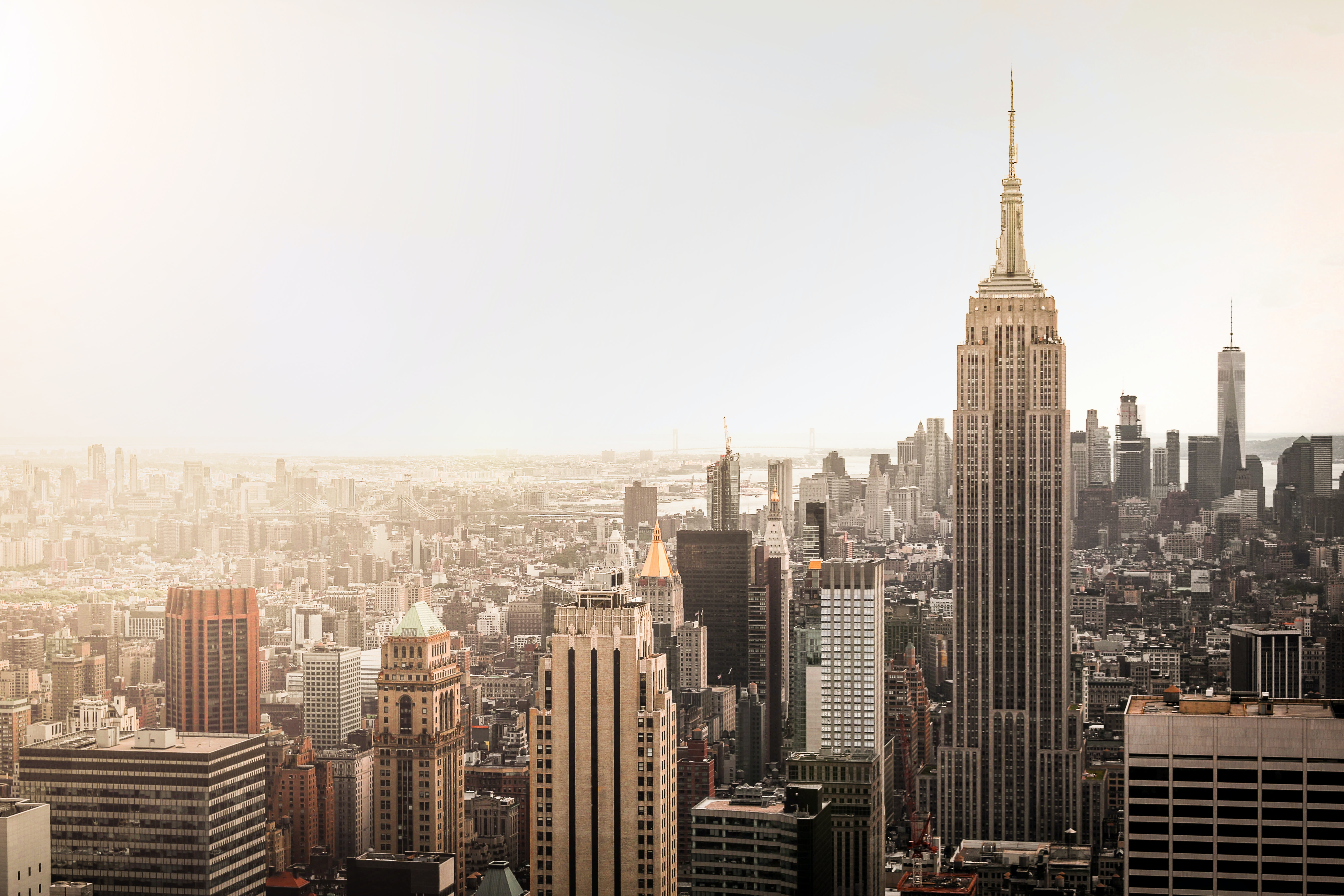 A sepia view of New York City.