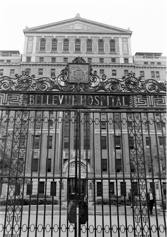 Wrought iron gates of Bellevue Hospital