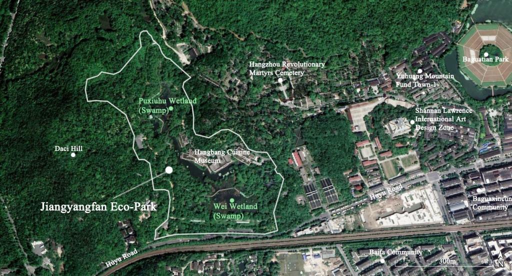 Satellite image of Jiangyangfan Eco-Park in Hangzhou